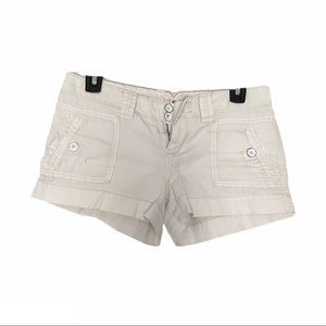 American Eagle low rise shorts white 2